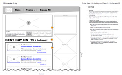 Best Buy Blog wireframe